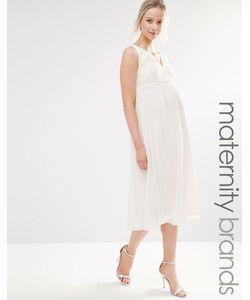 Little Mistress Maternity   Короткое Приталенное Платье Из Кружева Для Беременных