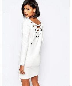 Vero Moda | Платье В Рубчик Со Шнуровкой На Спинке