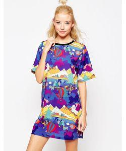 Textile Federation | Платье-Футболка С Абстрактным Принтом