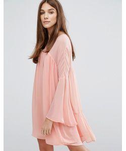 Hazel | Платье В Стиле Бэби-Долл Со Вставками Blush