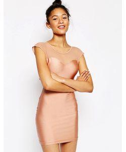 American Apparel | Облегающее Платье С Вырезом Сердечком