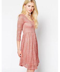 Max C London | Короткое Приталенное Платье Из Кружева Max C