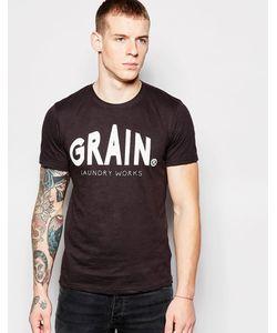 Grain Denim | Футболка С Логотипом Master