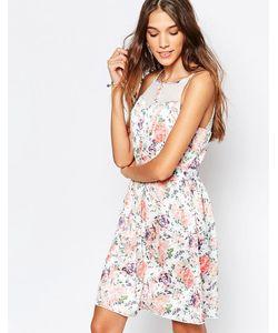 Mela Loves London   Платье С Пастельным Цветочным Принтом Мульти