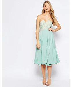 JARLO | Платье Миди С Кружевной Отделкой На Лифе Violetta Мятный