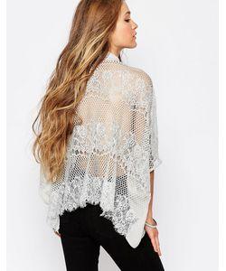 Japonica | Блузка С Кружевной Спинкой Серый