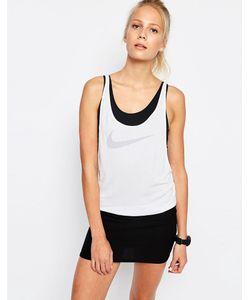 Nike | Двухслойная Майка С Логотипом-Галочкой Premium Белый