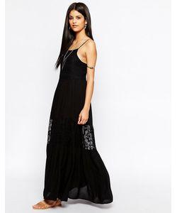 Hazel | Платье Макси С Кружевной Отделкой