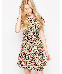 Jasmine | Короткое Приталенное Платье С Ромашками