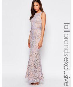 Jarlo Tall | Кружевное Платье Макси С Контрастными Вставками