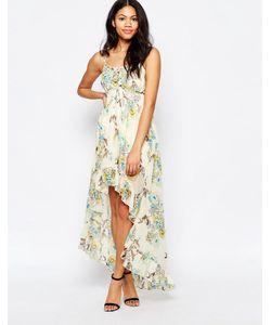 Mela Loves London   Платье Макси С Принтом Птиц