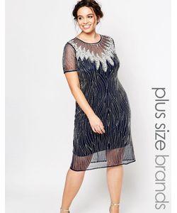Lovedrobe Luxe | Платье С Прозрачным Верхним Слоем И Вырезом Капелькой
