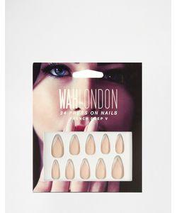 WAH | Накладные Ногти London Французский Маникюр French Deep V