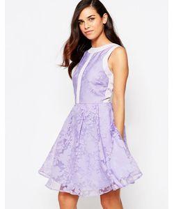 Lashes of London | Платье Для Выпускного Из Органзы Lila Фиолетовый