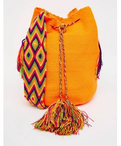 Jardin Del Cielo   Оранжевая Сумка Ручной Вязки Wayuu Mochila Оранжевый