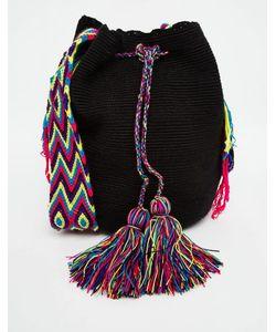 Jardin Del Cielo   Черная Сумка Wayuu