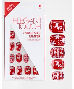 ELEGANT TOUCH   Рождественские Накладные Ногти Christmas Jumper