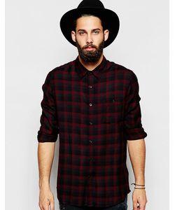 Asos | Рубашка Классического Кроя Из Вискозы В Клетку Красный