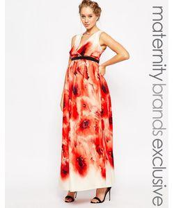 Little Mistress Maternity   Платье Макси С Цветочным Принтом Для Беременных Little Mistress