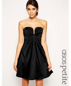 ASOS PETITE | Платье Мини Бандо Черный