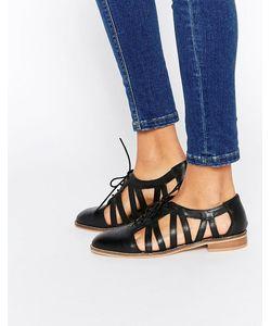 Asos | Кожаные Туфли На Плоской Подошве Membership Черный