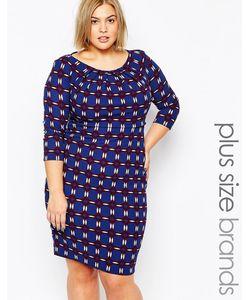 Goddiva plus | Трикотажное Платье Размера Плюс С Мозаичным Принтом Goddiva