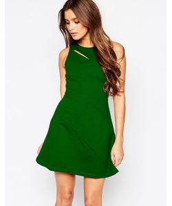 Adelyn Rae | Полосатое Приталенное Платье В Полоску С Вырезом Зеленый