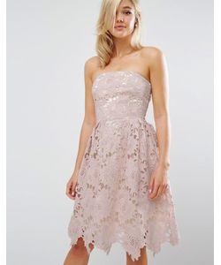 Little Mistress | Кружевное Платье Миди Nude Pink