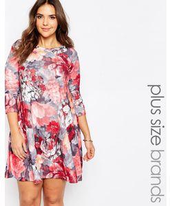 Praslin | Свободное Платье Размера Плюс С Цветочным Принтом Мульти