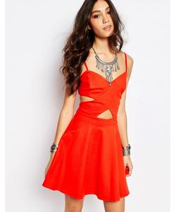 WYLDR | Платье Мини Peek-A-Boo Красный