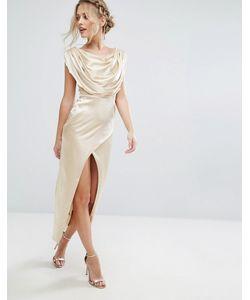 VLabel London | Платье Миди Vlabel Brook Золотой