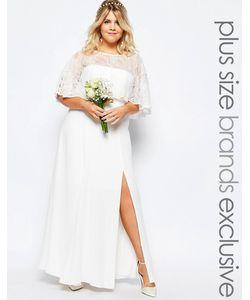 Fame and Partners Plus | Свадебное Кружевное Платье Макси Белый