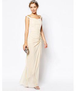 VLabel London | Платье Макси С Вырезом Лодочкой India