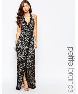 Jarlo Petite | Кружевное Платье Макси С Глубоким Декольте И Разрезом Valentia