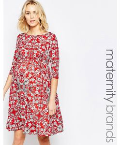 Mama Licious | Трикотажное Платье Для Беременных С Цветочным Принтом Mamalicious Мульти