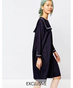 Zacro | Платье С Воротником В Морском Стиле