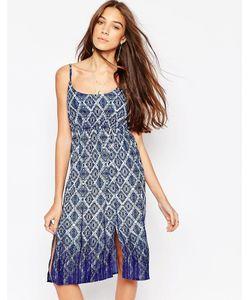Diya | Платье С Геометрическим Принтом Синий