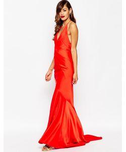 Asos | Платье Макси С Глубоким Вырезом И Шлейфом Red Carpet