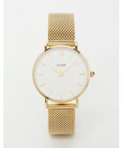 Cluse | Часы С Золотистым Сетчатым Браслетом Minuit Cl30010 Золотой