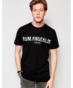 Rum Knuckles | Футболка С Лондонским Принтом Черный