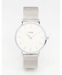 Cluse   Часы С Серебристым Сетчатым Браслетом Minuit Cl30009
