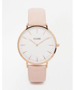 Cluse   Часы С Розовым Кожаным Ремешком La Boheme Cl18014