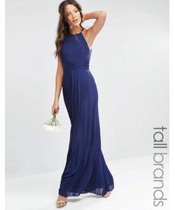 TFNC Tall | Плиссированное Платье Макси С Завышенной Талией