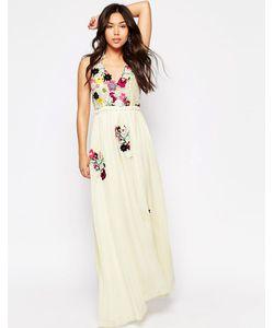 Meghan Fabulous | Платье-Макси Цвета Слоновой Кости Fiji