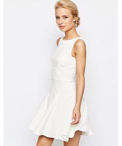 Closet   Платье Из Вафельной Ткани С Юбкой Годе