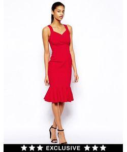 Hybrid | Платье-Футляр С Запахом И Оборкой По Подолу
