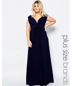 Goddiva plus | Платье Макси Размера Плюс С Узелком Спереди