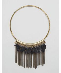 NYLON | Броское Ожерелье С Перьями Латунь