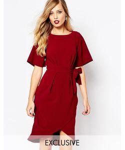 Closet | Платье С Рукавамикимоно И Завязкой Спереди