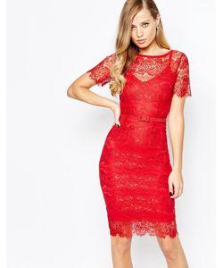 Body Frock | Алое Кружевное Платье Lisa Scarlet